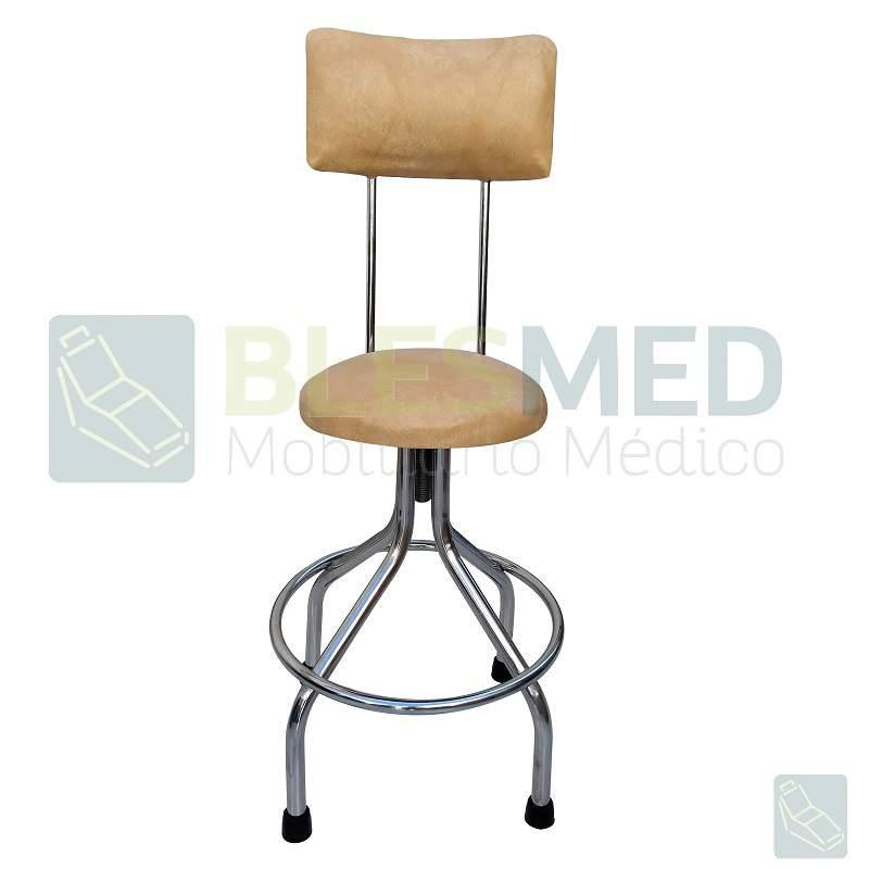 Banco giratorio con respaldo tapizado muebles medicos blesmed - Banco tapizado ...
