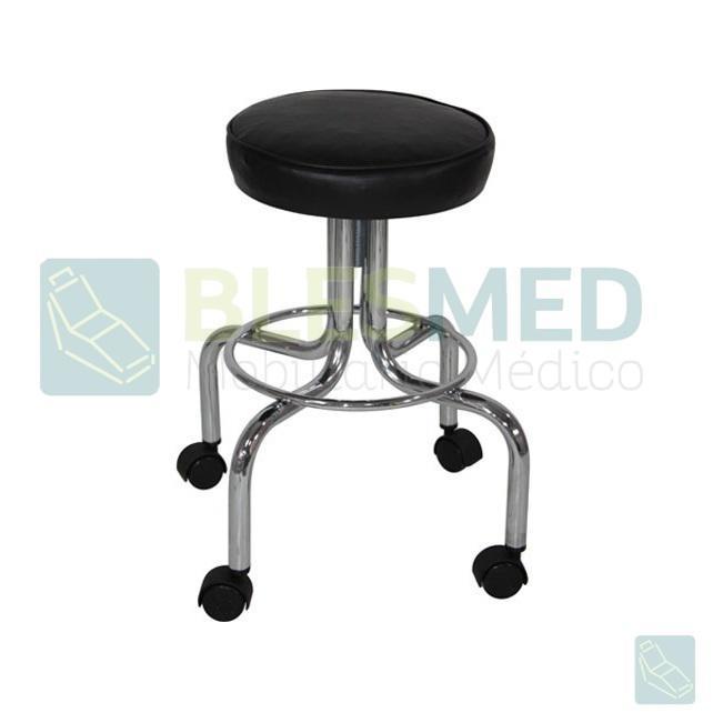 Banco giratorio tapizado con ruedas muebles medicos blesmed - Banco tapizado ...