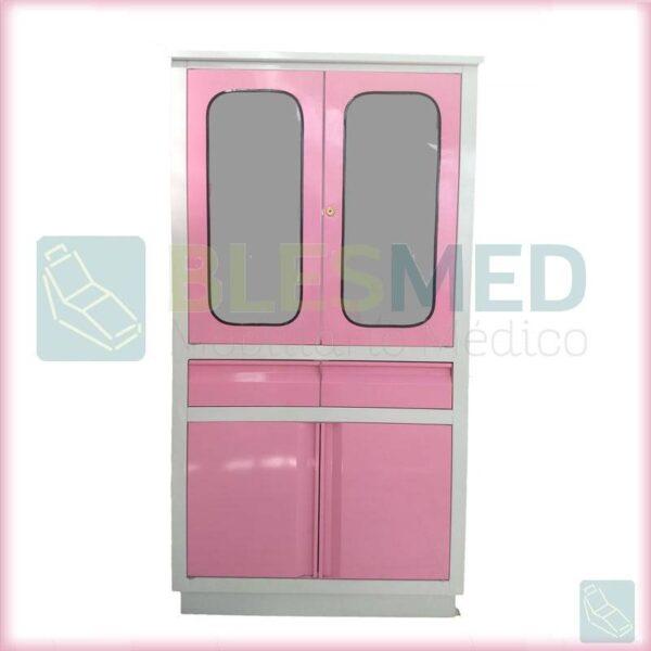 vitrina para medicamentos clarencecolors rosa