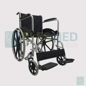 silla de ruedas con descansa pies desmontables