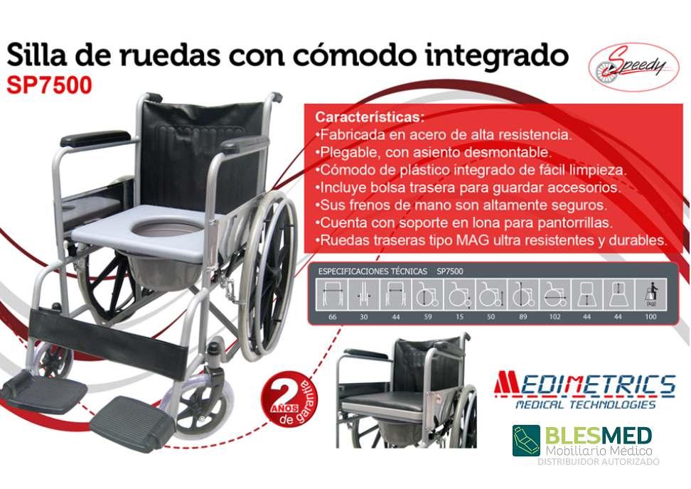 Silla De Ruedas Con Comodo Integrado SP7500