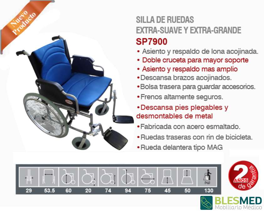 Silla De Ruedas Extra Grande