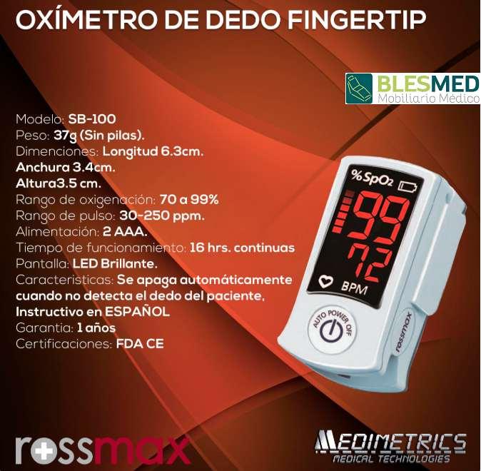 oximetro sb100 Especificaciones