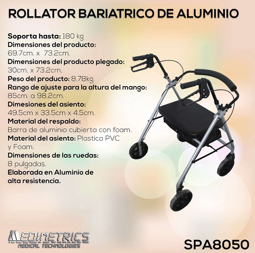 Rollator Bariatrico De Aluminio