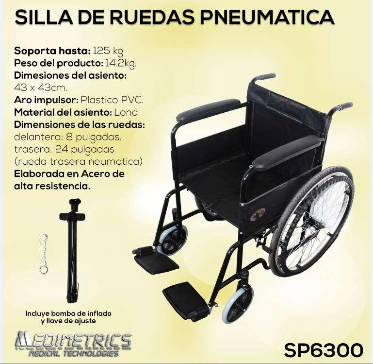 Ficha silla de ruedas neumática SP6300