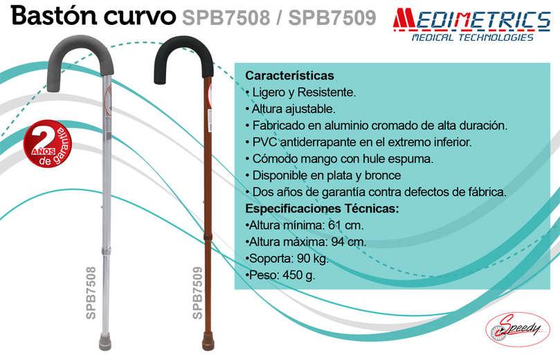 Baston Curvo De Aluminio